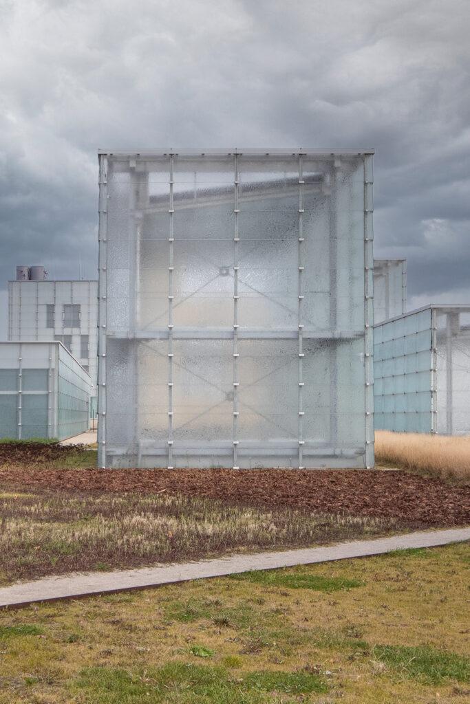 Architektura zewnętrzna obiektu szklanego Muzeum Śląskie