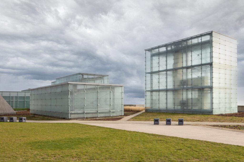 Przeszkolone budynki Muzeum Śląskiego. Sesja zdjęciowa w Katowicach